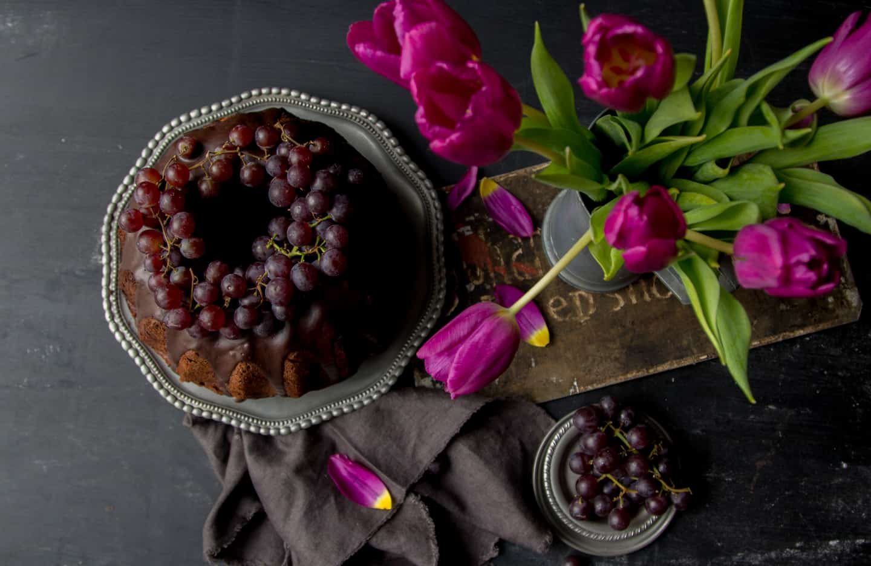 Gugelhupf Rezept mit Trauben