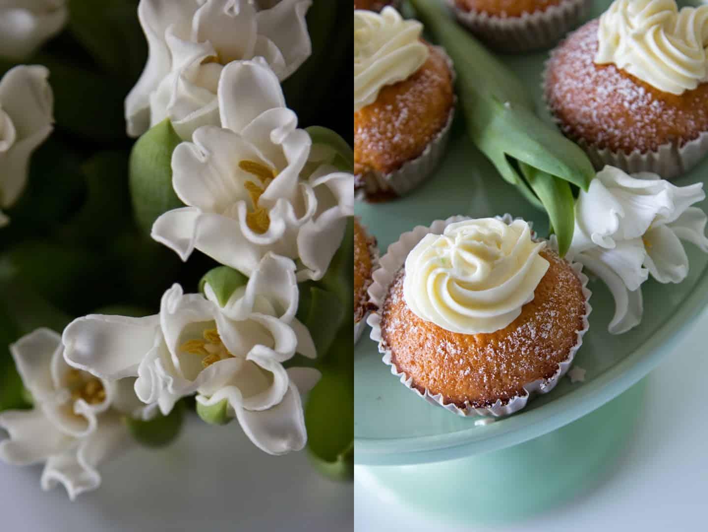 Leichte Zitronen-Muffins mit Pfirsichfrosting