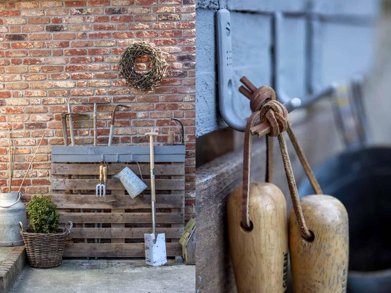 Paletten DIY für Gartengeräte