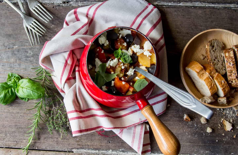 Herbstkranz + Gemüseeintopf mediterran