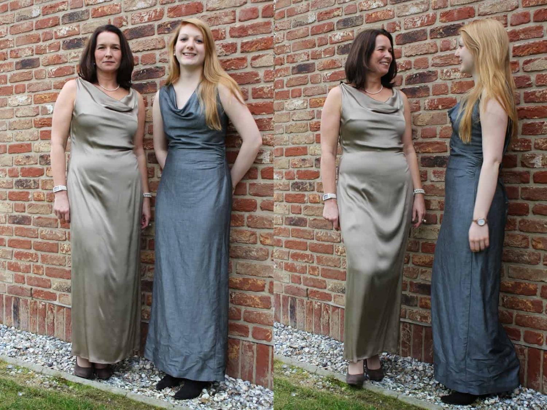 """Kleid mit Wasserfallkragen von burda-style oder auch Modell """"Claudia"""""""